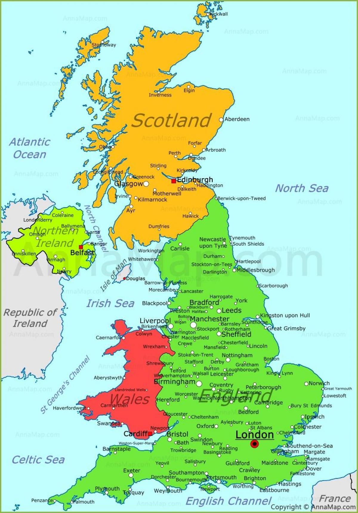 Harta Regatului Unit Harta